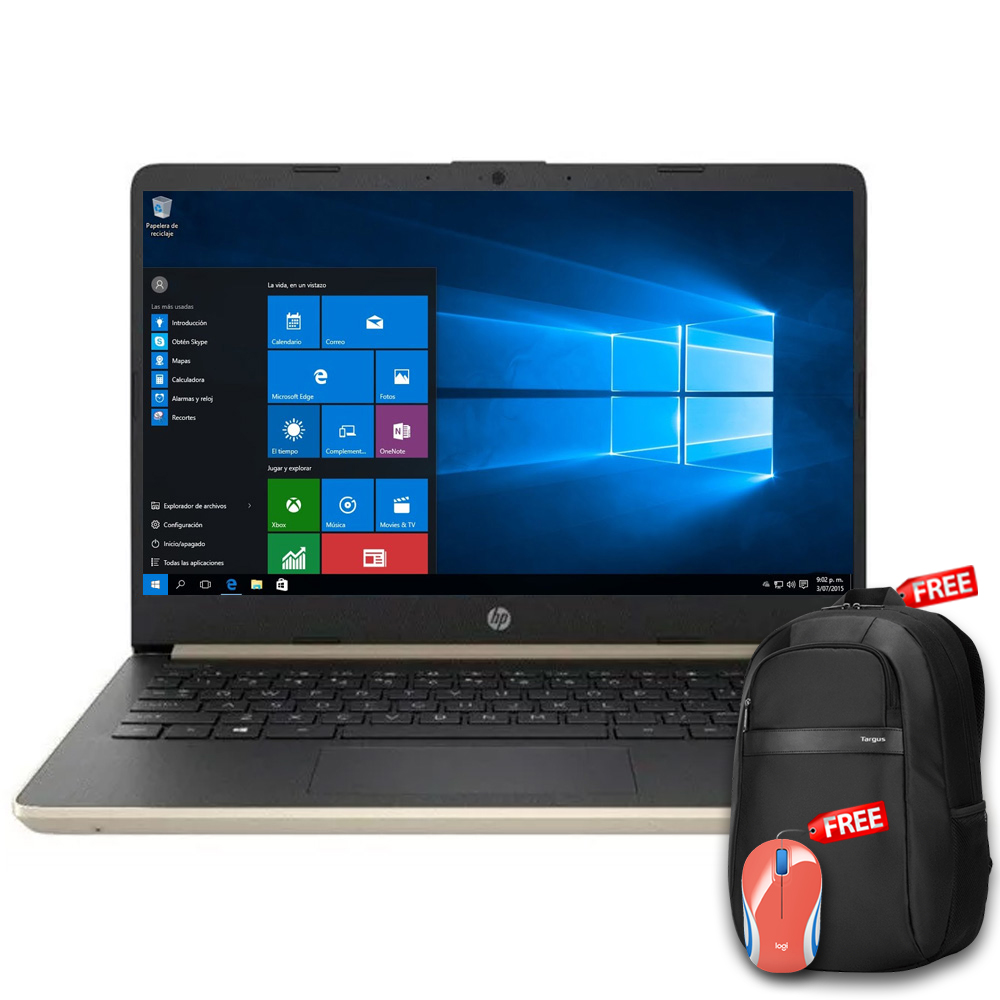 HP 14-DQ1038 14'' Core i3-1005G1 1.2GHz 128GB SSD 4GB W10
