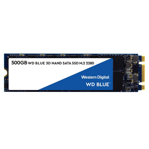 [WDS500G2B0B] Disco M.2 WD Blue 3D NAND 500GB Internal SSD - SATA III 6Gb/s M.2 2280